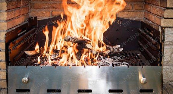 Печи барбекю с мангалом или грилем
