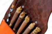 Подарочный набор шампуров в кожаном колчане   Арт. Ш-08