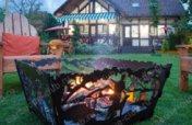 Квадратная садовая чаша для костра Лесные просторы