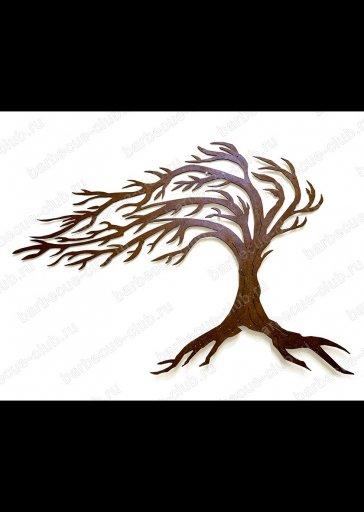 """Панно настенное """"Дерево на ветру""""  с LED подсветкой"""