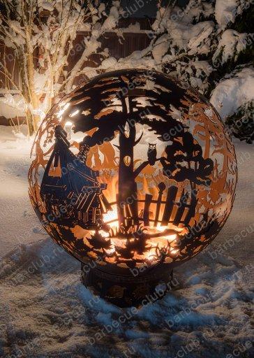 """Сфера для огня """"Сказочный лес"""""""